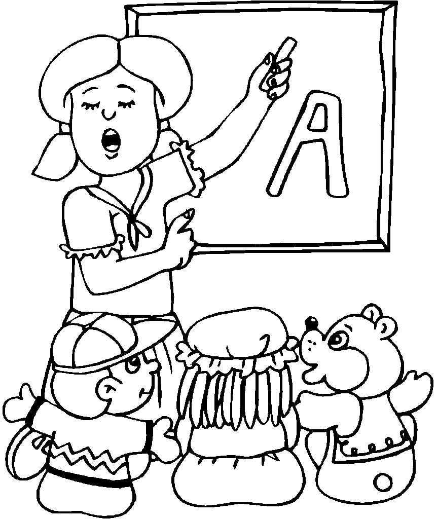 862x1024 Girl Teacher Coloring Pages