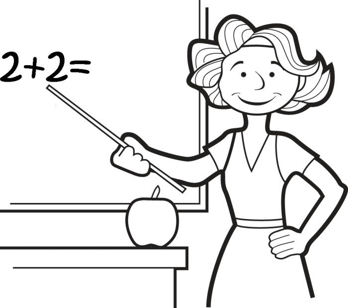 Teacher teaching drawing at free for for Best teacher coloring pages