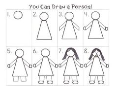 236x182 Teach The Kids How Draw A Person The First Week Of School