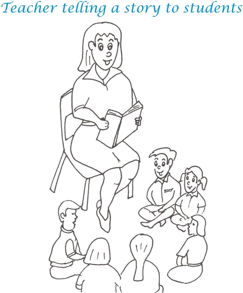 800x963 Teacher's Day Printable Coloring Page For Kids 10
