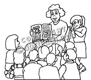 300x263 Teacher Teaching Students Clipart Black And White