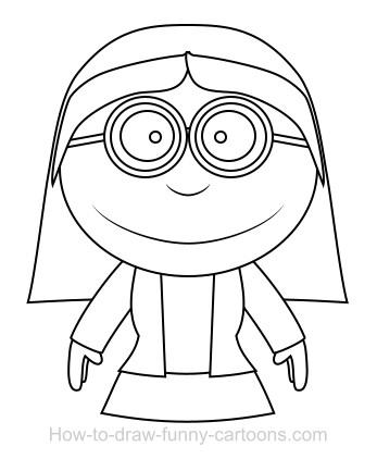 347x422 Drawing A Teacher Cartoon
