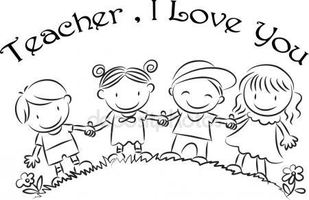 450x291 Cartoon Drawing Happy Teachers'Day Card Stock Photo Wenpei