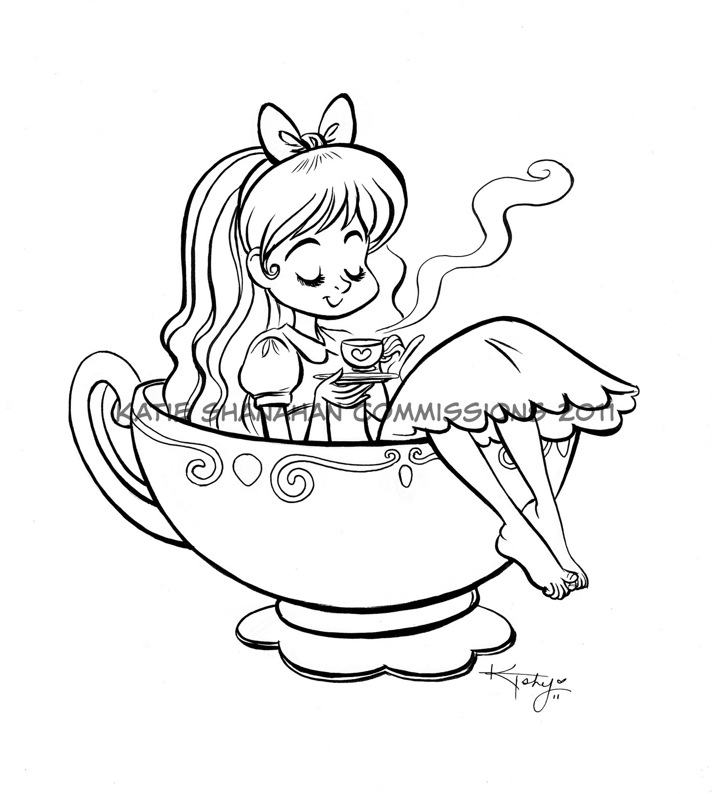 1434x1600 Kt Shy's Sketch Blog! Commission Alice In A Tea Cup