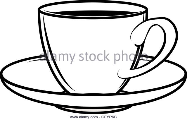 640x410 Coffee Cup Line Drawing Vector Stock Photos Amp Coffee Cup Line