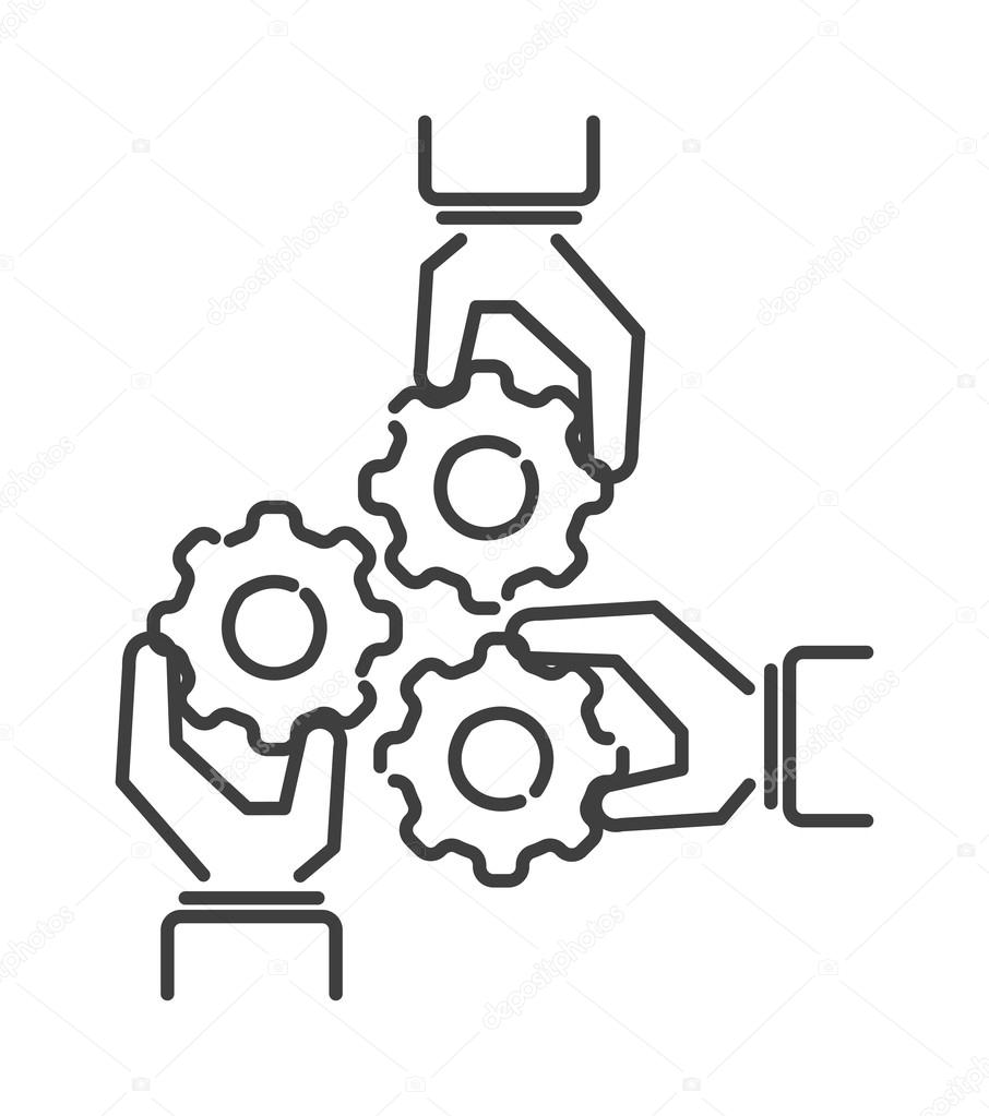 906x1023 Teamwork Business People Teambuilding Icon Group Communication