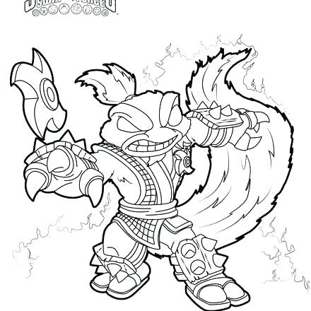 440x440 Free Skylander Coloring Pages My Son Is Enjoying This Step By Step