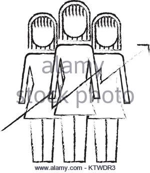 300x344 Teamwork People Growth Arrow Profit Financial Stock Vector Art