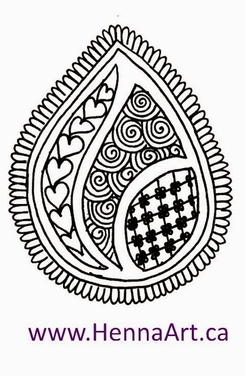 479x734 Hennaart.ca Tear Drop Progressive Drawing Paisley