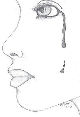 274x399 Of A Tear Drawing By Melissa Green