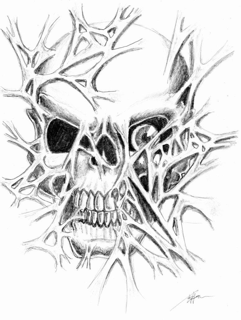 776x1029 Skull Ripping Through Flesh By Brandonhenning