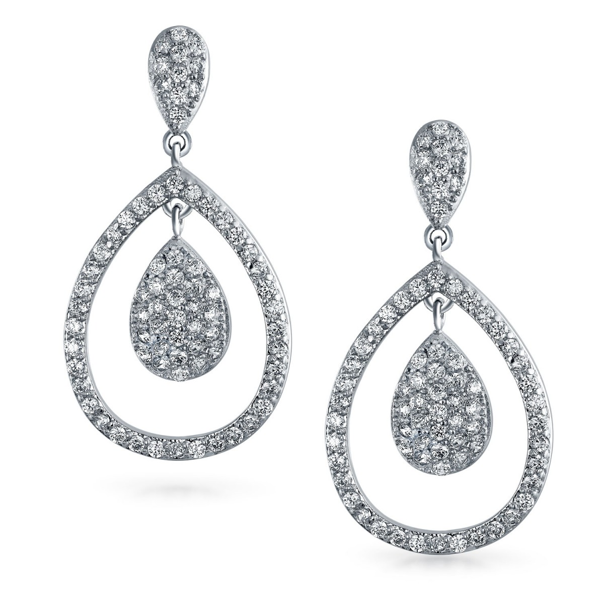 1200x1200 Kate Middleton Royal Wedding Inspired Cz Teardrop Earrings
