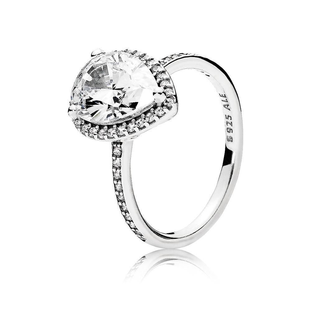 1000x1000 Radiant Teardrop Ring, Clear Cz Pandora Jewelry Us