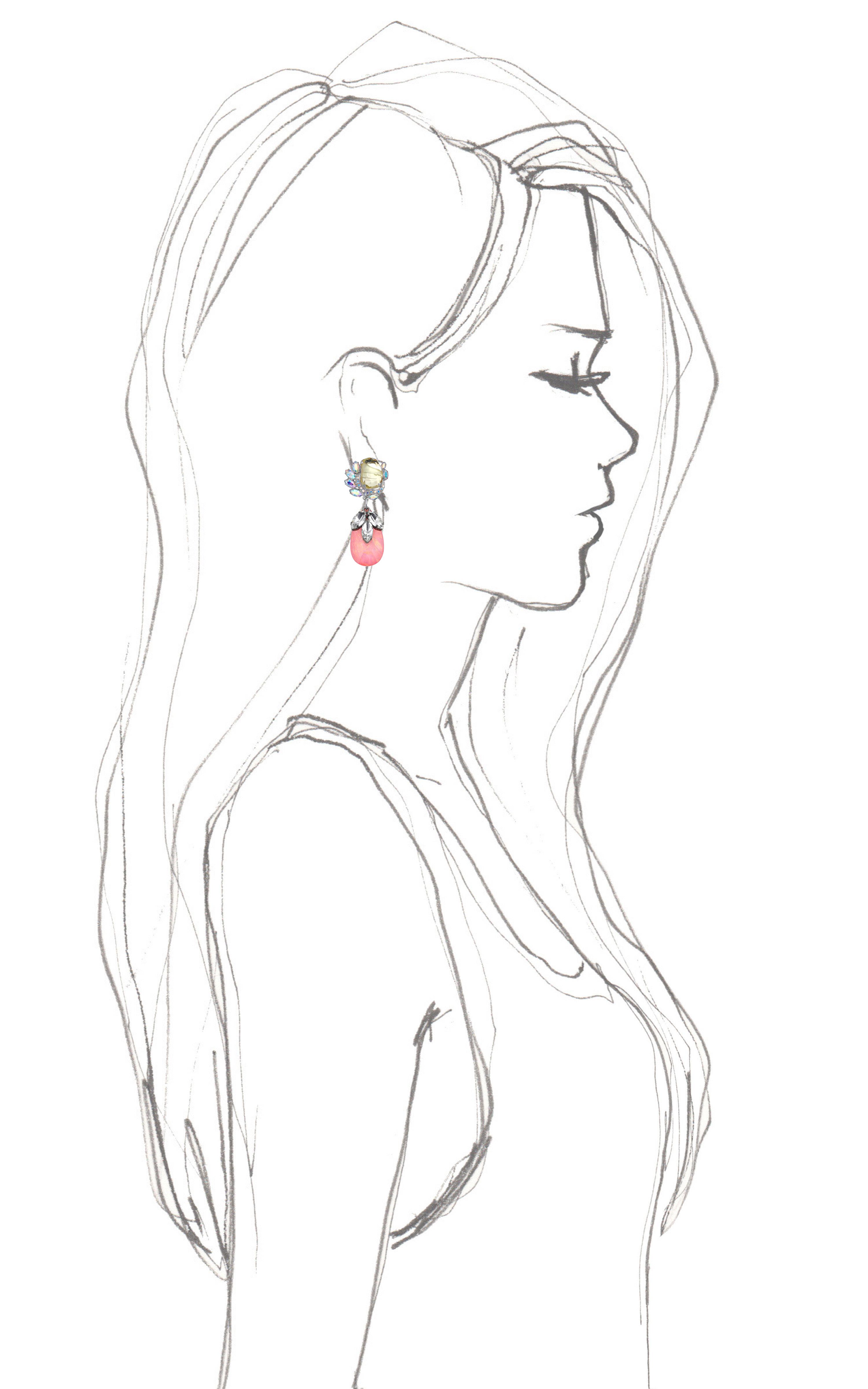 3000x4800 Shop Mawi Teardrop Flower Gemstone Earring
