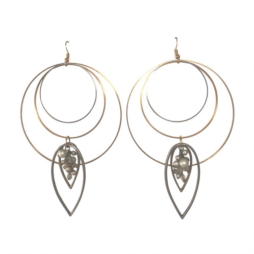 498x498 Tear Drop Hoops Handmade Jewellery Austin So Me Design