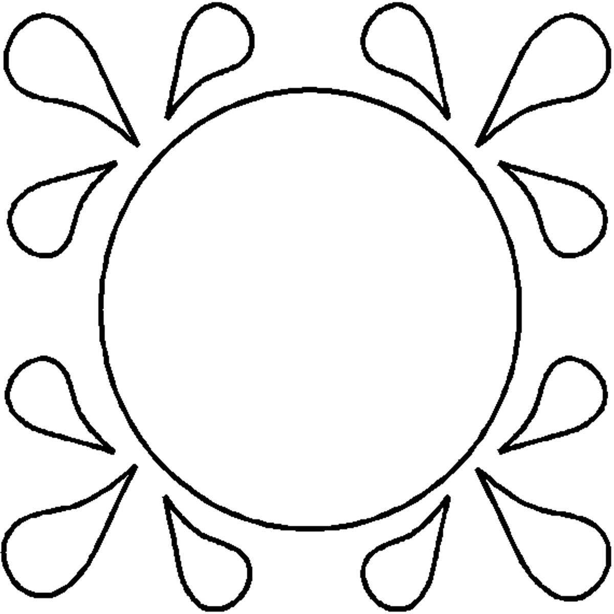1200x1200 30333 Tear Drop Circle Full Line Stencil