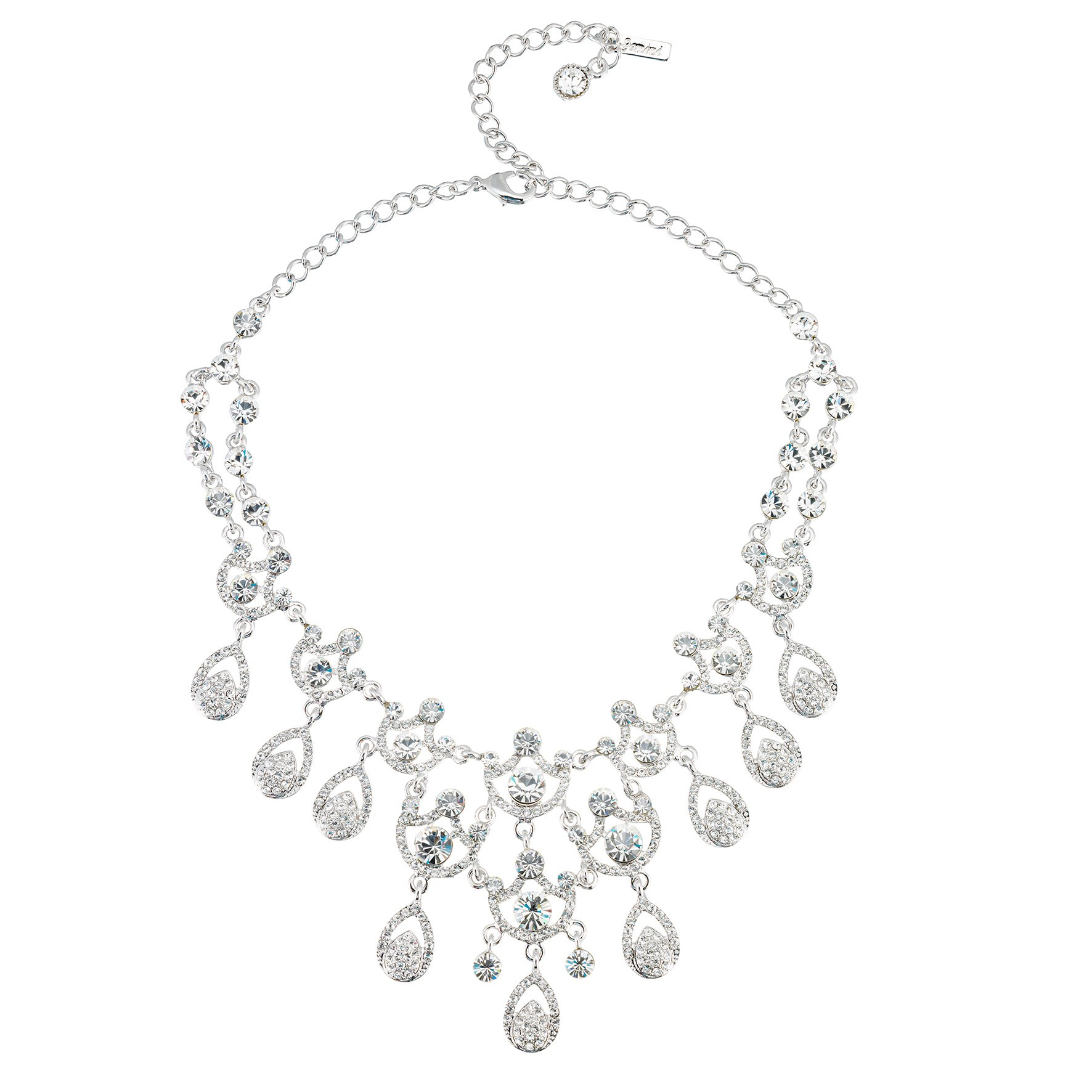 1772x1772 Swarovski Crystal Clear Crystal Necklace 9 Ornate Chandelier
