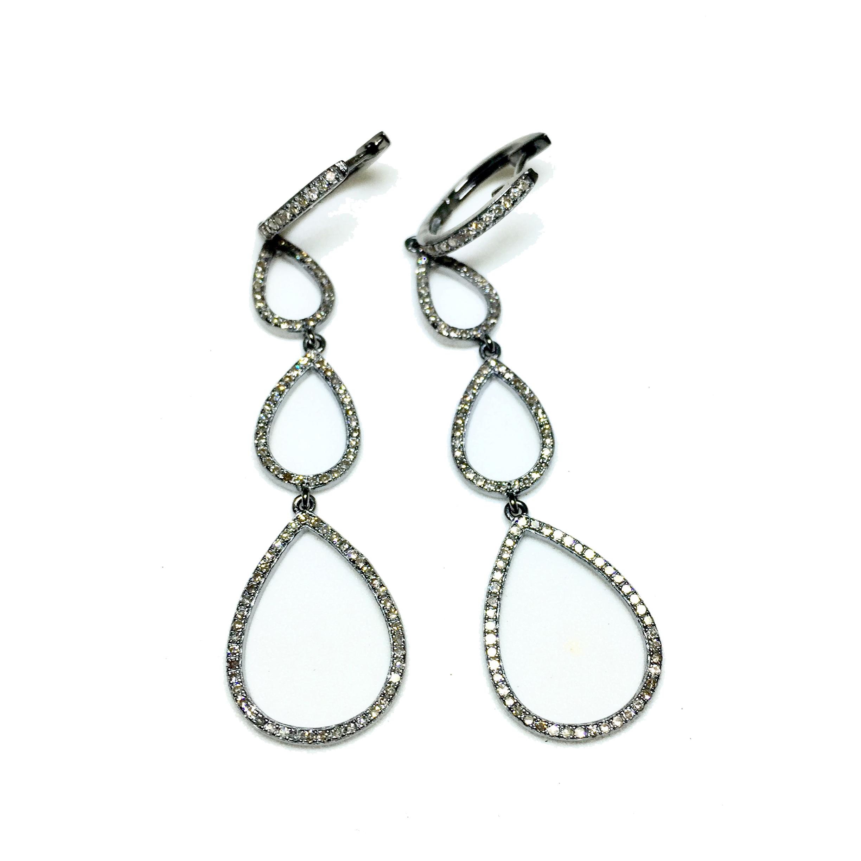 2448x2446 Diamond Multi Teardrop Earring Pamela Bloom Jewelry