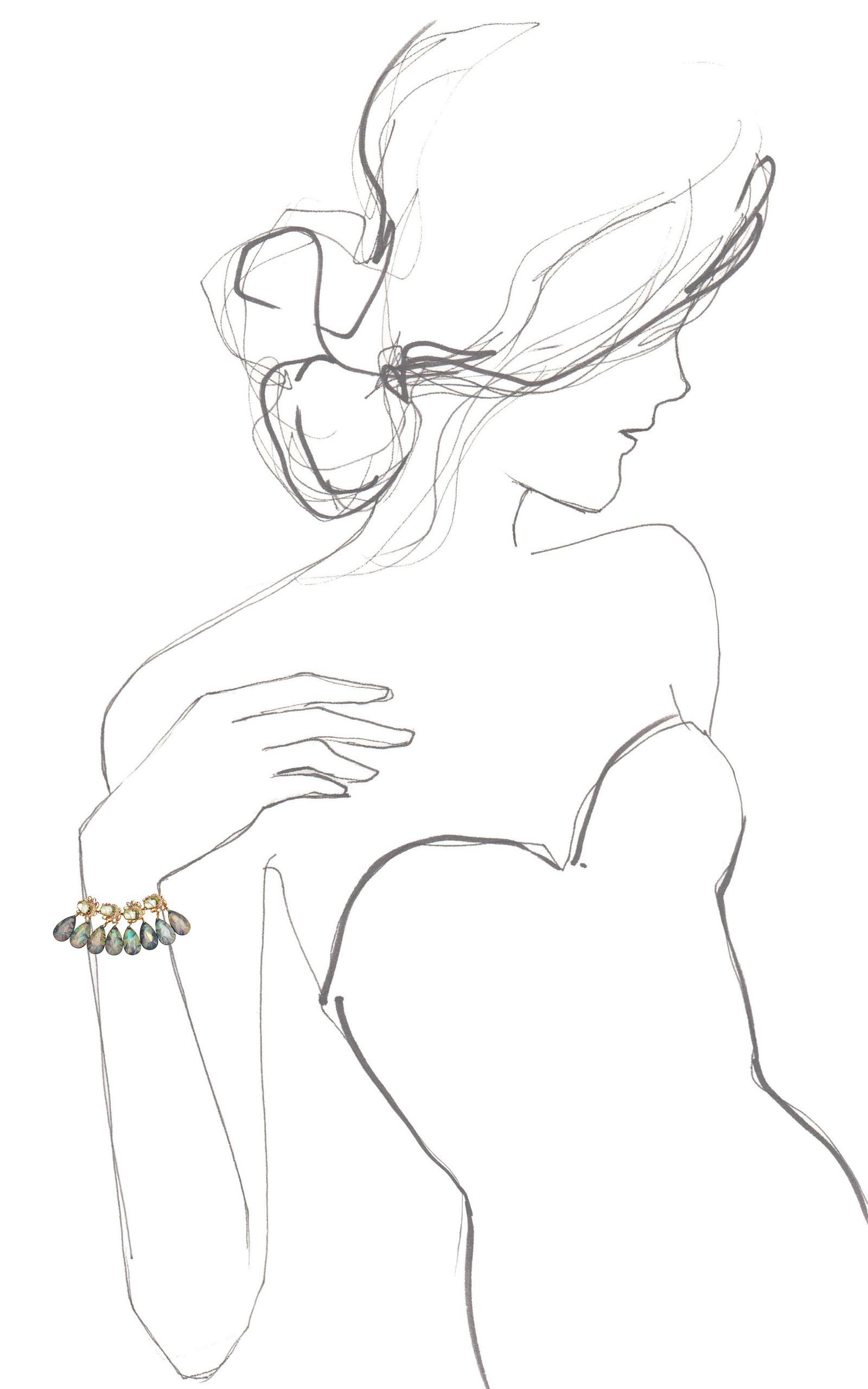 1600x2560 Blue Teardrops Linked Flower Gemstone Bracelet By Mawi Moda Operandi