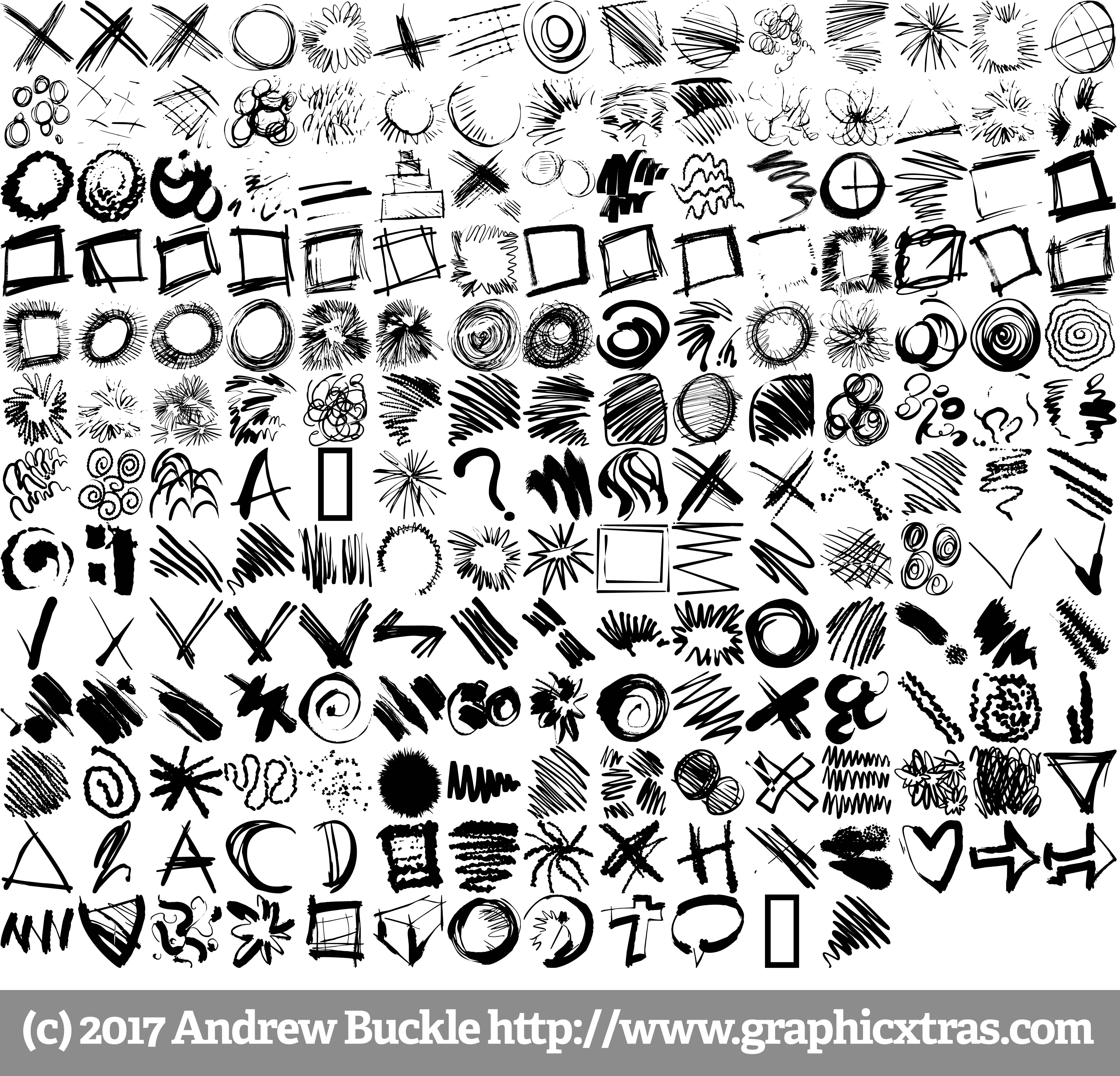 4000x3842 Doodle Sketch Fonts Royalty Free