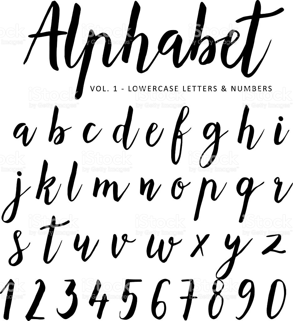 936x1024 Hand Drawn Vector Alphabet. Script Font. Brush Font. Isolated
