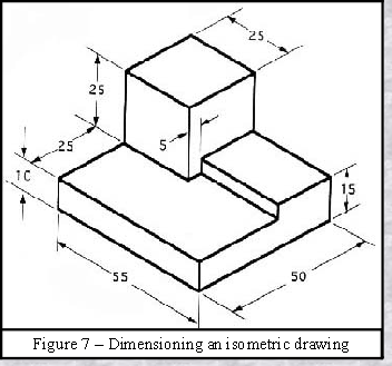 352x329 Dimensioning On Orthographic And Isometric Drawings