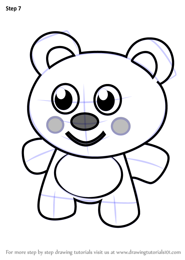 602x848 Learn How To Draw Teddy Bear For Kids (Cartoons For Kids) Step By