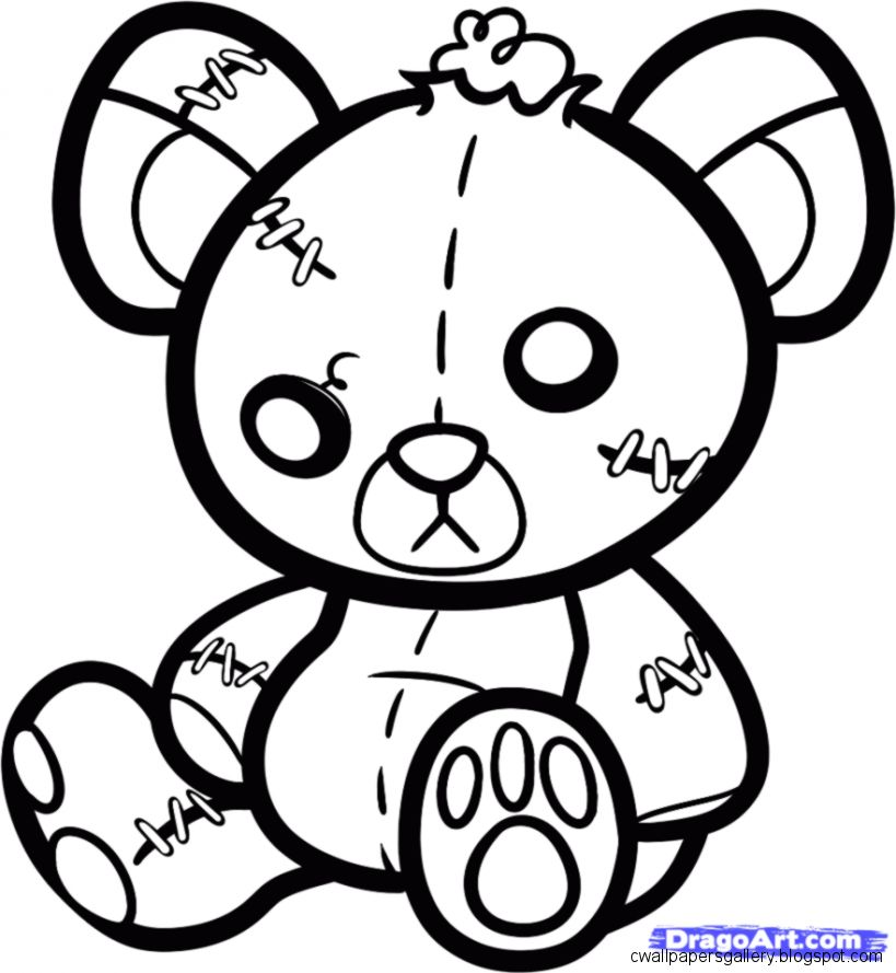 819x889 Teddy Bear Drawing Wallpapers Gallery