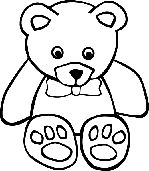 522x597 Teddy Bear Outline Clip Art