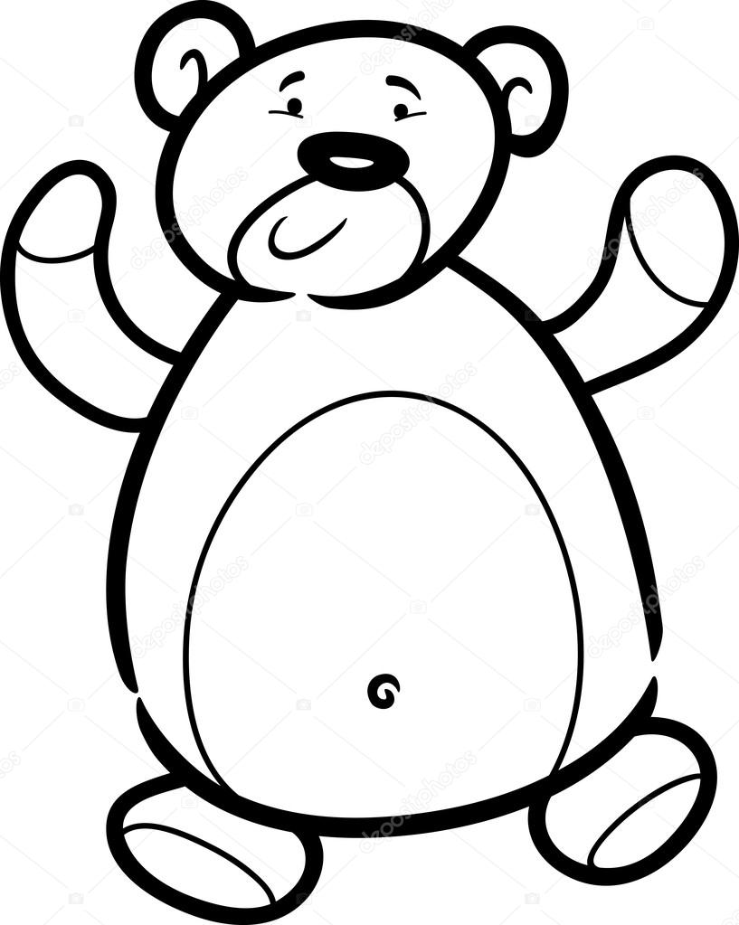 817x1023 Teddy Bear Cartoon For Coloring Book Stock Vector Izakowski