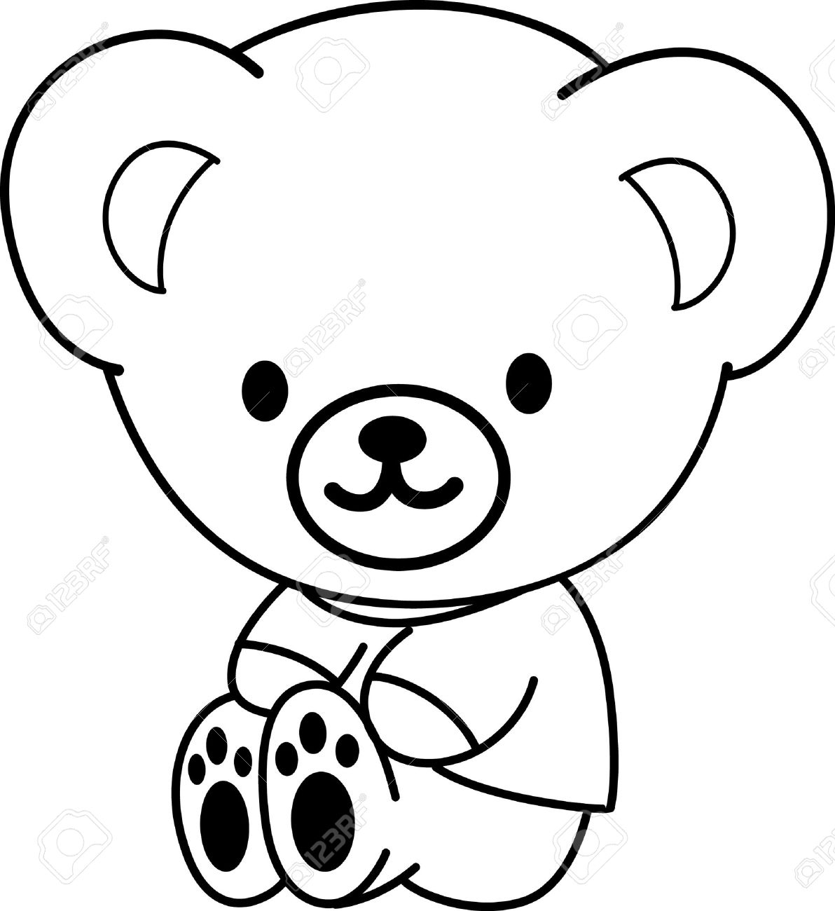 1192x1300 Cartoon Drawings Of Bears How To Draw A Cartoon Teddy Bear Kids