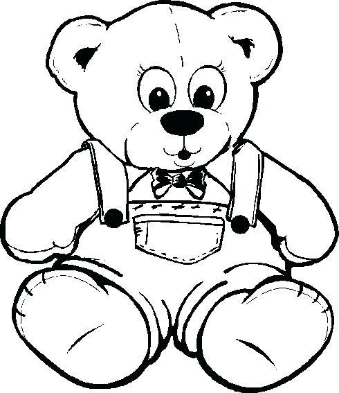 490x567 Teddy Bear Coloring Page 79 Plus Teddy Bear Drawing Blank Teddy