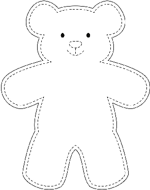 Teddy Bear Drawing Easy