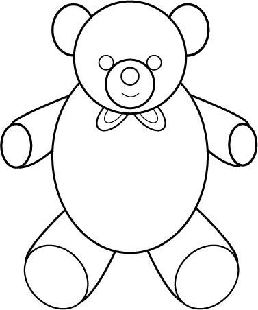 377x452 Free Quick Easy Step By Step Process To Draw A Teddy Bear