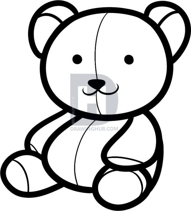 650x720 Gallery Bear Teddy Drawing,