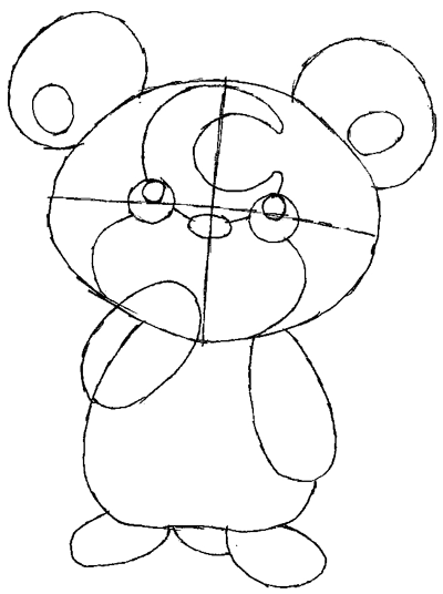 400x536 How To Draw Teddiursa From Pokemon With Easy Step By Step Drawing