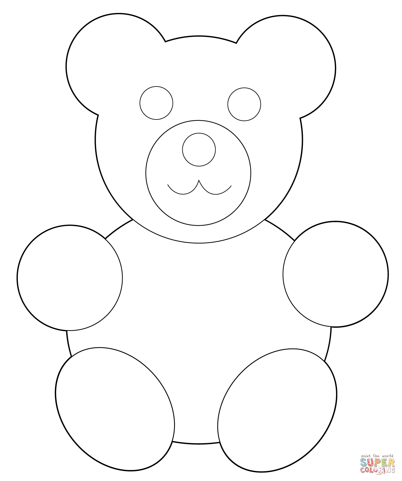 1330x1590 Simple Teddy Bear Coloring Page Free Printable Coloring Pages