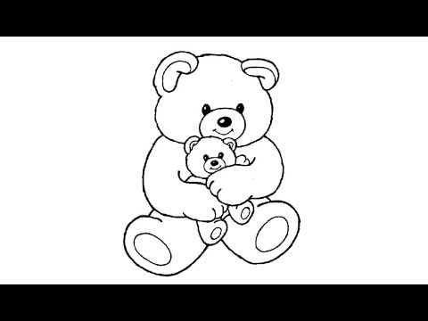 Teddy Bear Drawing For Kids