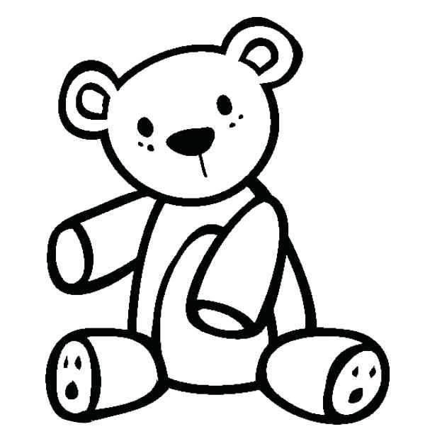 600x612 Coloring Pages Teddy Bears Teddy Bear Color Page Teddy Bear