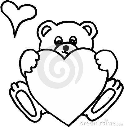 400x410 Drawn Teddy Bear Heart Drawing