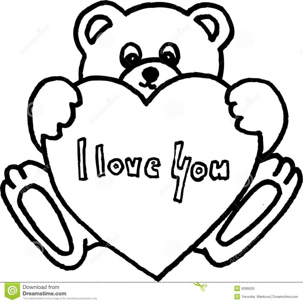 1023x1024 How To Draw A Bear A Heart Teddy Bear And A Heart