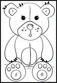 200x288 How To Draw Teddy Bears With Hearts With Easy Step By Step