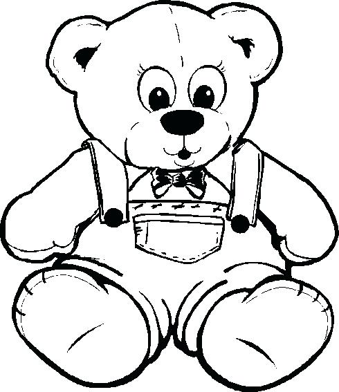 490x567 Teddy Bear Color Page This Coloring Page For Kids Features A Cute