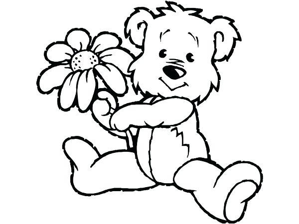 600x450 Teddy Bear Coloring Page Teddy Bear Drawing Teddy Bear Valentine
