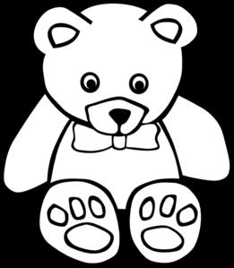 261x299 Teddy Bear Outline Clip Art