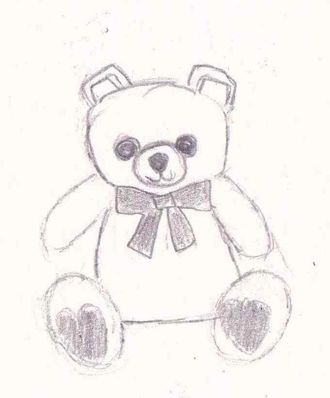 680x821 Teddy Bear Sketch By Illuminating Dreams