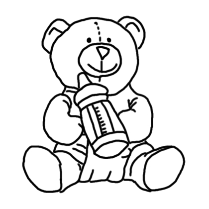 420x420 The Kitchen Table Crafter Free Digi Sketch Baby Teddy Bear