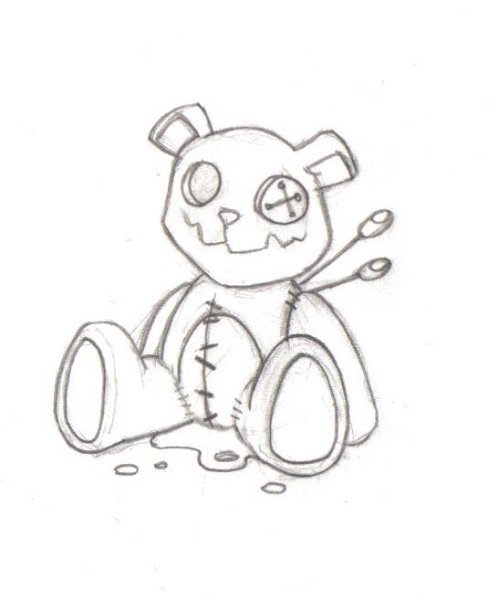 546x657 Teddy Bear. By Needlesandink