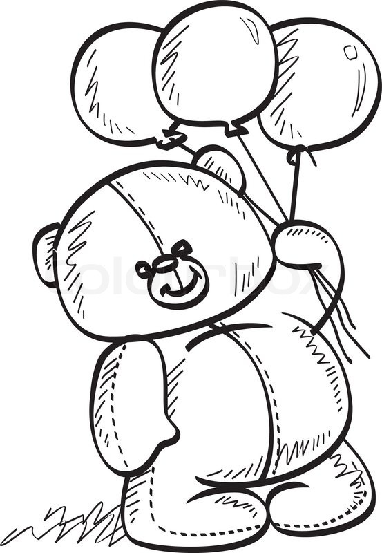 Teddy Bear Drawing Outline At Getdrawings Com Free For