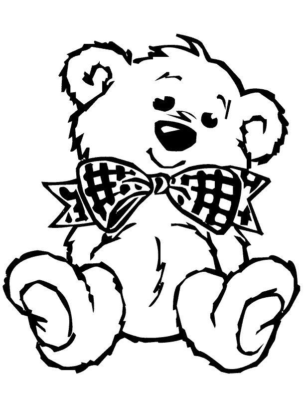 612x792 Line Drawing Teddy Bear